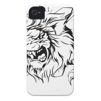 Brecha de la garra del león Case-Mate iPhone 4 coberturas