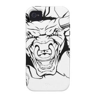 Brecha de la mascota de Bull Case-Mate iPhone 4 Funda