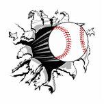 Brecha del béisbol escultura fotografica