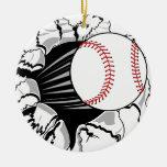 Brecha del béisbol ornaments para arbol de navidad