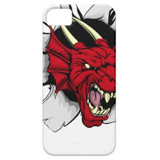 Brecha roja de la garra del dragón iPhone 5 fundas