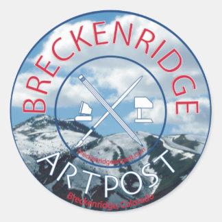 Breck Artpost Classic Round Sticker