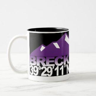 Breck Mountain GPS Violet Mug