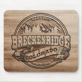 Breckenridge Carved Wood Mouse Pad