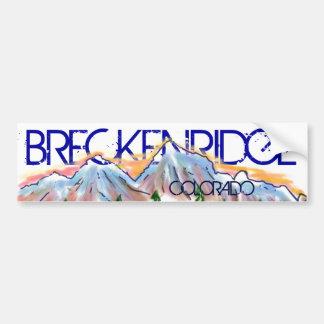 Breckenridge Colorado artistic mountain sticker Car Bumper Sticker
