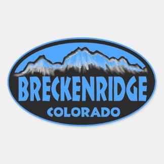 Breckenridge Colorado blue oval stickers