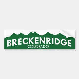 Breckenridge Colorado Bumper Sticker Car Bumper Sticker