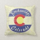Breckenridge Colorado circle flag decor pillow