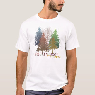 Breckenridge Colorado colorful trees guys tee