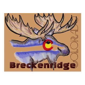 Breckenridge Colorado elk postcard