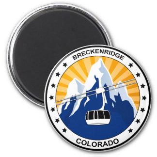 Breckenridge Colorado Imán Redondo 5 Cm