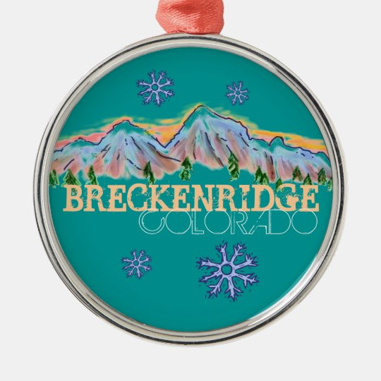 Breckenridge Colorado mountain snowflake ornament