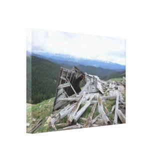 Breckenridge Colorado old ruins scenic canvas art Stretched Canvas Prints
