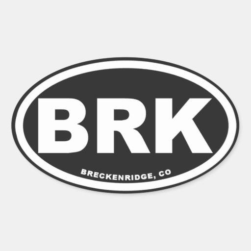 Breckenridge Colorado Oval Sticker