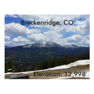 Breckenridge, Colorado postcard