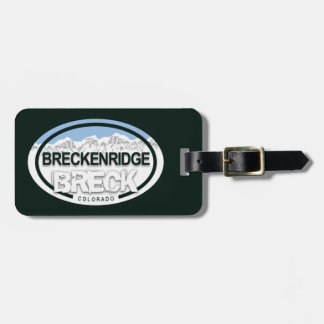 Breckenridge Colorado Rocky Mountain BRECK Luggage Tag