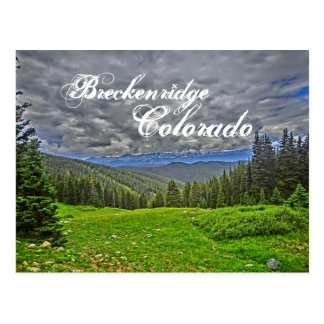 Breckenridge Colorado scenic postcard