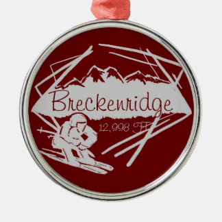 Breckenridge Colorado ski elevation ornament