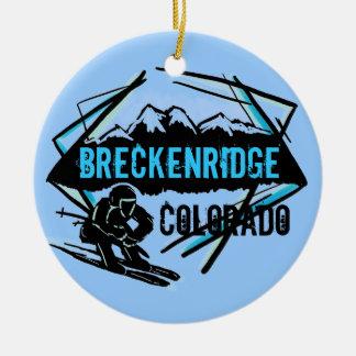 Breckenridge Colorado ski mountain ornament