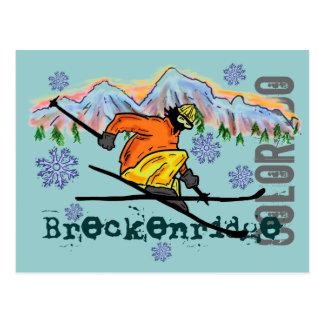 Breckenridge Colorado ski postcard