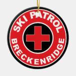 BRECKENRIDGE COLORADO SKIING SKI PATROL MOUNTAIN CERAMIC ORNAMENT