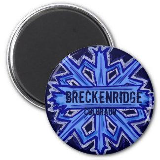 Breckenridge Colorado snowflake winter magnet