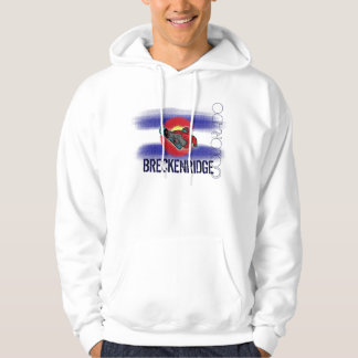 Breckenridge Colorado state flag snowboard hoodie
