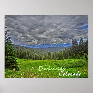 Breckenridge Colorado summer scenic poster