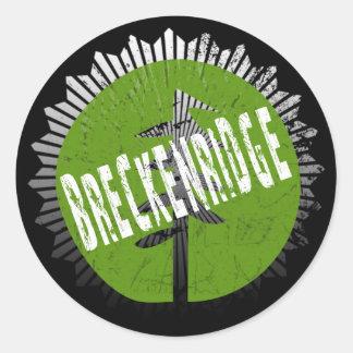 Breckenridge Decay Logo Classic Round Sticker