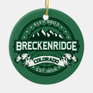Breckenridge Forest Double-Sided Ceramic Round Christmas Ornament