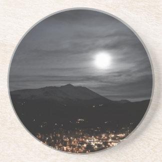 breckenridge full moon drink coaster