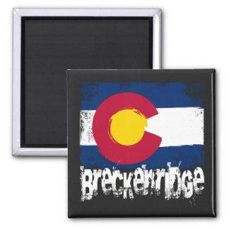 Breckenridge Grunge Flag Fridge Magnet