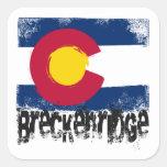 Breckenridge Grunge Flag Square Sticker