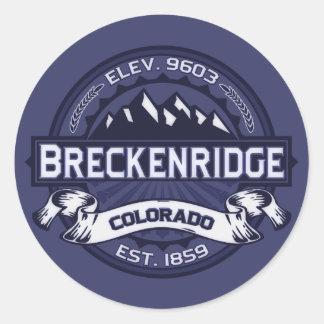 Breckenridge Midnight Blue Classic Round Sticker