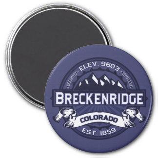 Breckenridge Midnight Blue 3 Inch Round Magnet