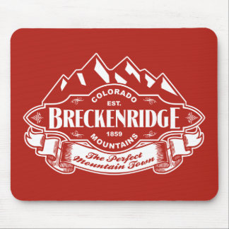 Breckenridge Mountain Emblem Red Mouse Pad