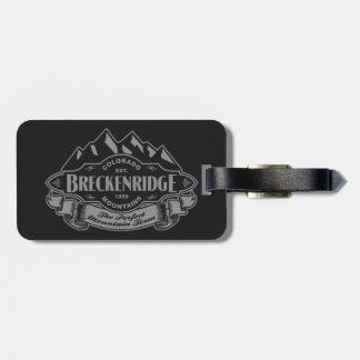 Breckenridge Mountain Emblem Silver Tag For Luggage