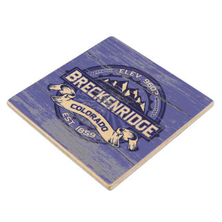 Breckenridge Old Paint Midnight Wood Coaster