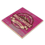 Breckenridge Old Paint Raspberry Wood Coaster