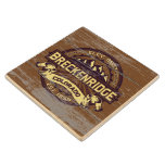 Breckenridge Old Paint Sepia Wood Coaster