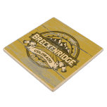 Breckenridge Old Paint Tan Wood Coaster