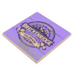 Breckenridge Old Paint Violet Wood Coaster