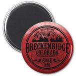 Breckenridge Old Radial Black Magnet Fridge Magnet