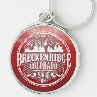 Breckenridge Old Radial White Keychain
