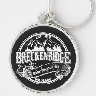 Breckenridge Perfect Town Silver-Colored Round Keychain