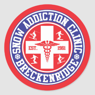 Breckenridge Snow Addiction Clinic Classic Round Sticker