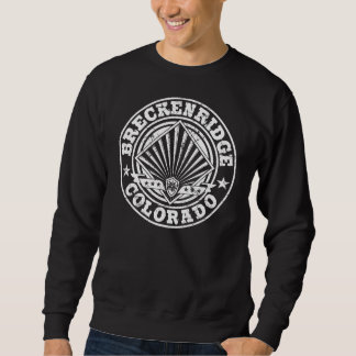 Breckenridge Vintage Circle White Sweatshirt