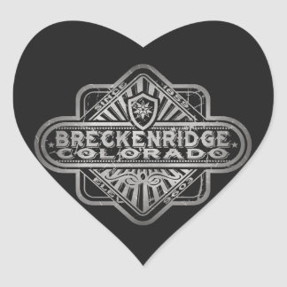 Breckenridge Vintage Diamond Heart Sticker