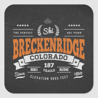 Breckenridge Vintage Orange Stickers