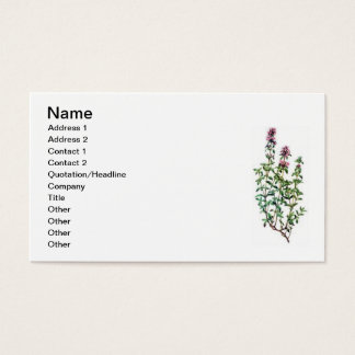 breckland thyme business card